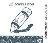 crayon doodle | Shutterstock .eps vector #680643418