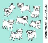 vector illustration draw... | Shutterstock .eps vector #680646832
