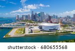 Stock photo aerial view of downtown miami florida usa 680655568