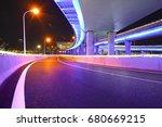 empty road floor with city...   Shutterstock . vector #680669215