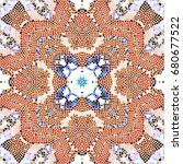 mosaic colorful pattern for... | Shutterstock . vector #680677522