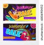 summer sale template banner | Shutterstock .eps vector #680690452