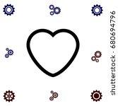 heart icons vector  flat design ...   Shutterstock .eps vector #680694796