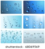 water drops  wet cards...