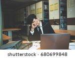 Asian Stress Business Man...