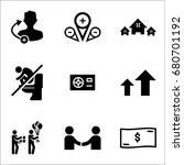 set of 9 miscellaneous icons... | Shutterstock .eps vector #680701192
