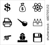set of 9 miscellaneous icons... | Shutterstock .eps vector #680705152