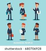 business people vector... | Shutterstock .eps vector #680706928
