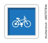 vector retro bicycle icon | Shutterstock .eps vector #680707846