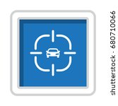 gps navigation icon vector flat ... | Shutterstock .eps vector #680710066