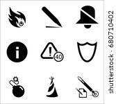 set of 9 miscellaneous icons... | Shutterstock .eps vector #680710402