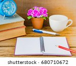 office accessories including... | Shutterstock . vector #680710672