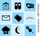 set of 9 mixed icons such as... | Shutterstock .eps vector #680713462