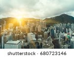 panoramic view of cityscape... | Shutterstock . vector #680723146