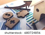 financial banking stock... | Shutterstock . vector #680724856