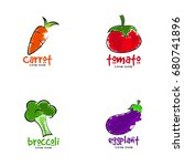 vegetables logo | Shutterstock .eps vector #680741896