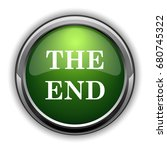 the end icon. the end website... | Shutterstock . vector #680745322