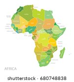 map of africa continent | Shutterstock .eps vector #680748838