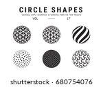 circle shapes set. universal... | Shutterstock .eps vector #680754076