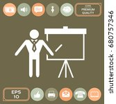 presentation sign icon. man... | Shutterstock .eps vector #680757346