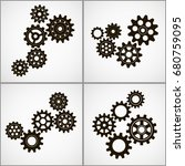 set of gears. vector icon | Shutterstock .eps vector #680759095