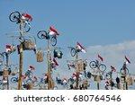 indonesia  jakarta   august 18  ... | Shutterstock . vector #680764546