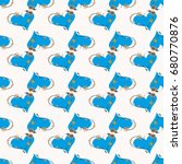 new colorful seamless pattern...   Shutterstock .eps vector #680770876
