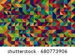 dark multicolor vector polygon... | Shutterstock .eps vector #680773906