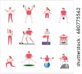 people practicing sport vector... | Shutterstock .eps vector #680775562