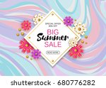 summer sale background layout... | Shutterstock .eps vector #680776282