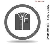 t shirt icon illustration... | Shutterstock .eps vector #680778202