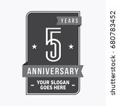 5 years anniversary design... | Shutterstock .eps vector #680783452