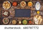 food frame. assorted indian... | Shutterstock . vector #680787772