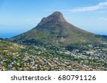 cape town lions head mountain... | Shutterstock . vector #680791126