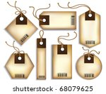 cardboard price tags | Shutterstock .eps vector #68079625
