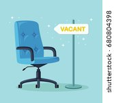 office chair with vacancy sign... | Shutterstock .eps vector #680804398
