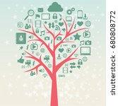 social media vector illustration | Shutterstock .eps vector #680808772