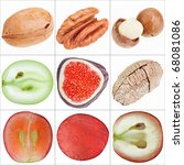 collage of isolated fruits ... | Shutterstock . vector #68081086