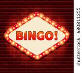 bingo  casino  lotto billboard... | Shutterstock .eps vector #680811355