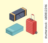 travel bags. colorful... | Shutterstock . vector #680812246