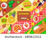 Summer Friends Picnic Poster...