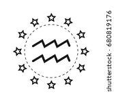 aquarius. sign of the zodiac.... | Shutterstock .eps vector #680819176