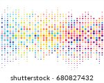 abstract colorful halftone... | Shutterstock .eps vector #680827432
