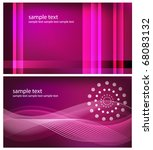 two abstract modern backgrounds ... | Shutterstock .eps vector #68083132