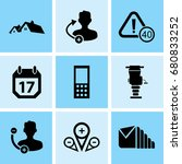 set of 9 mixed icons such as... | Shutterstock .eps vector #680833252