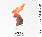 transparent polygon map  ... | Shutterstock .eps vector #680835586