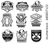 vintage sports logo design.... | Shutterstock .eps vector #680837122