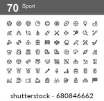 creative icon set   sport | Shutterstock .eps vector #680846662