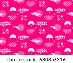 beautiful japanese seamless ... | Shutterstock .eps vector #680856316