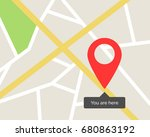 city map you are here | Shutterstock .eps vector #680863192
